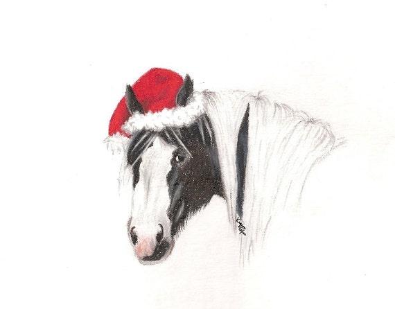 """Festive Faelin"" Holiday Gypsy Horse  Faelin is from Atchen Tan Gypsy Cobs i"