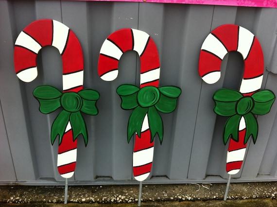 10 Large Candy Canes Holiday Yard Decor Yard Art Yard