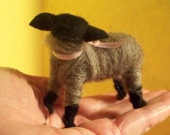 Wool Wrapped Gray Lamb