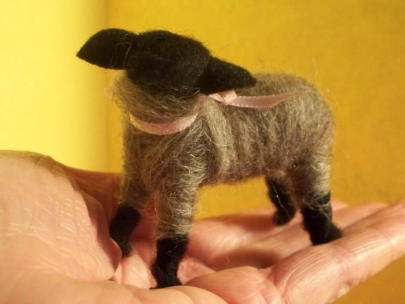 Wool Wrapped Gray Lamb image 0