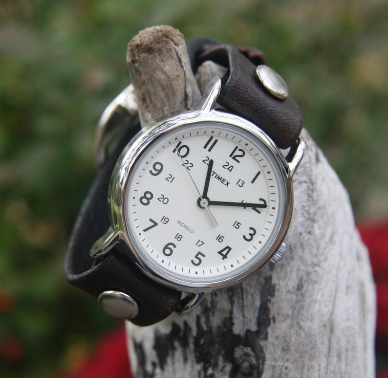 63d44785f50f Timex-Leather Watch-Rugged Watch-Fossil-Leather Cuff-Big