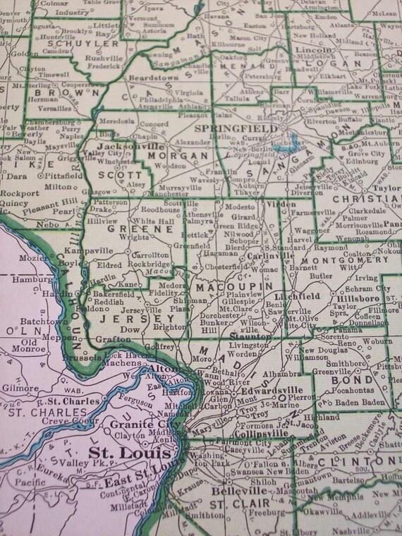 Map 1947 State Map Illinois - Vintage Antique Map Great for Framing Illinois Map Of Brussels on mount zion illinois, hardin illinois, naples illinois, phoenix illinois, burnt prairie illinois, zurich illinois, brighton illinois, springfield illinois, la salle illinois, hanover illinois, dow illinois, columbus illinois, kampsville illinois, calhoun county illinois, venice illinois, lake villa illinois, batchtown illinois, la grange illinois, united states illinois, lima illinois,