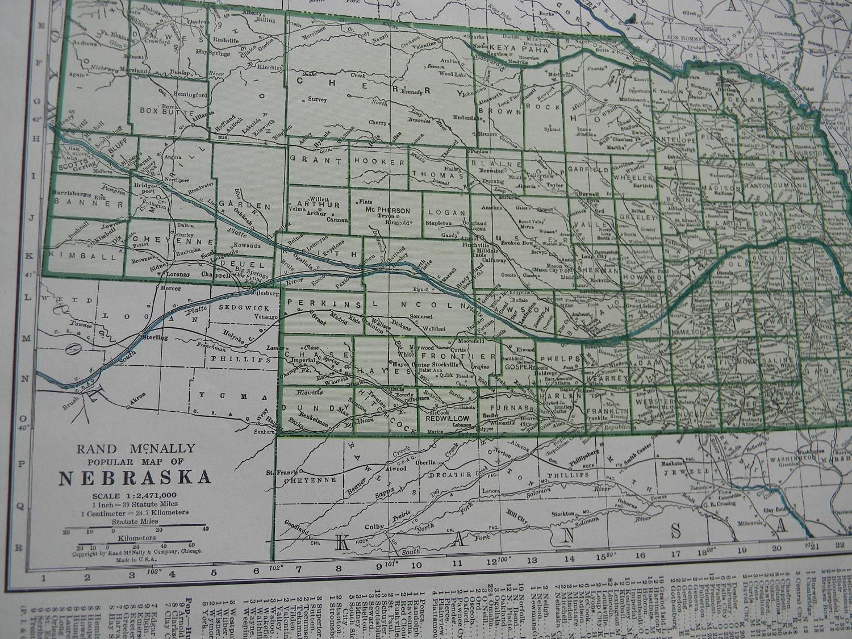 Imperial Nebraska Map.Map 1947 State Map Nebraska Vintage Antique Map Great For Etsy
