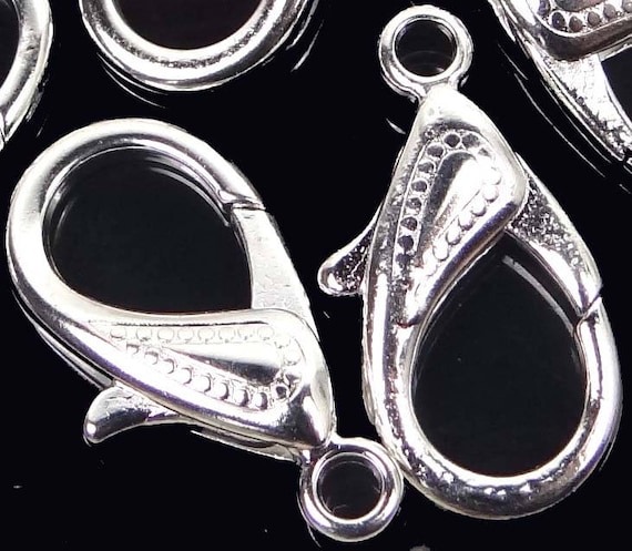 5 31x16mm X-Large Antiqued Silver Pewter Lobster Claw Clasps