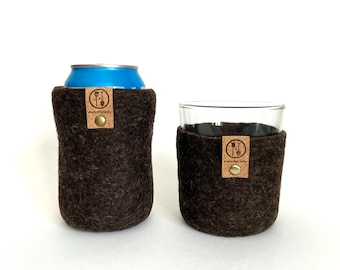 Wool Gift for Him, Father's Day Gift Set, Beer and Whiskey Gift Set, Wool Anniversary Guy Gifts Eco Friendly Dad Gifts, Father's Day Package