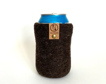 Guy Gift, Gifts for Him Wool Anniversary Gifts for Men, Groomsmen Present Wool Craft Beer Sleeve Gift, Insulated Wool Beer Sweater