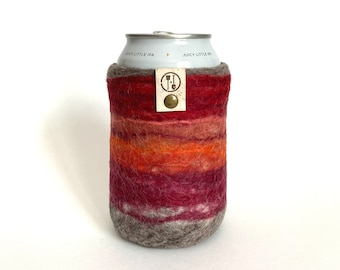 Wool Gifts, 7th Anniversary Wife Gift, Gifts for Her, Wool Anniversary Gifts for Her, Wool Present, Felt Beer Sleeve, Insulated Beer Sweater