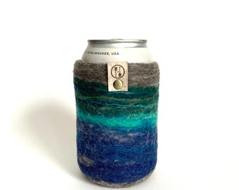 Bluegrass Guy Gift, Gifts for Him Wool Anniversary Gifts for Men, GSBG Present Wool Craft Beer Sleeve Gift, Insulated Felt Beer Sweater