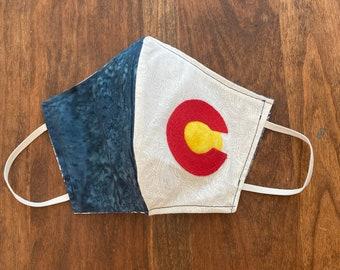 Colorado Face mask colorado flag fabric mask protective mask cotton fabric face mask reversible covid mask