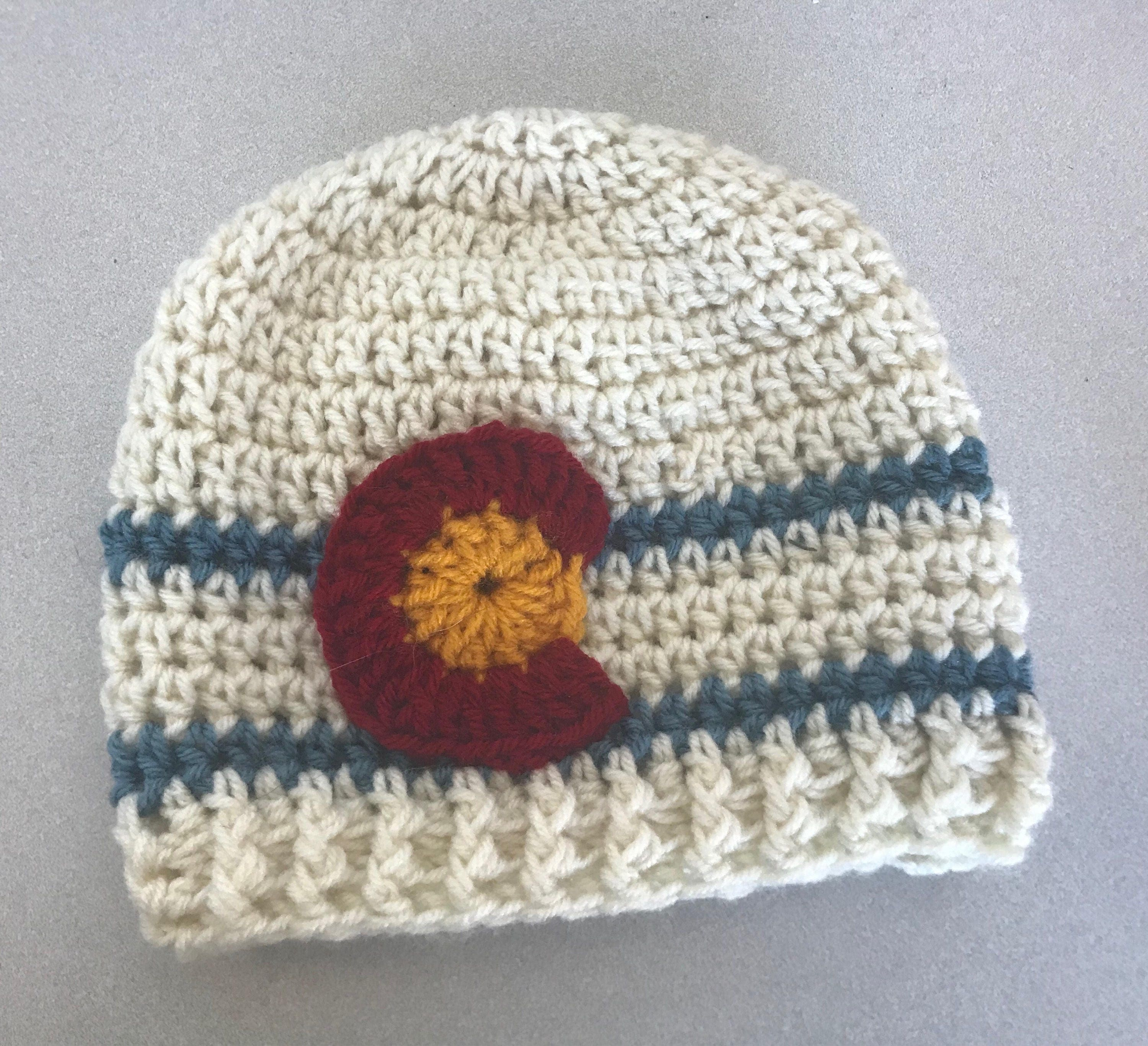Colorado flag hat beanie muted  0171dfb01