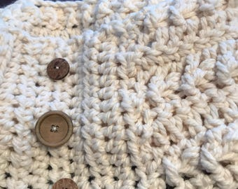 Chunky ribbed scarf neckwear/cowl/the Kitimat