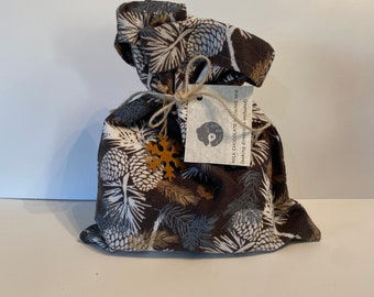 Brownie mix flannel pinecone bag