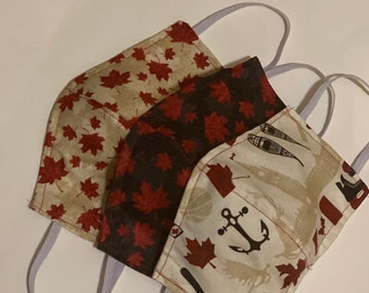 Oh Canada Face mask flag one mask maple leaf Up North fabric mask protective mask cotton fabric face mask reversible covid mask