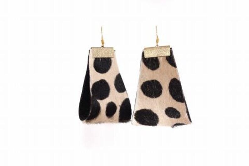 Cheetah Print Earrings Spot  Clip-On or Pierced image 0