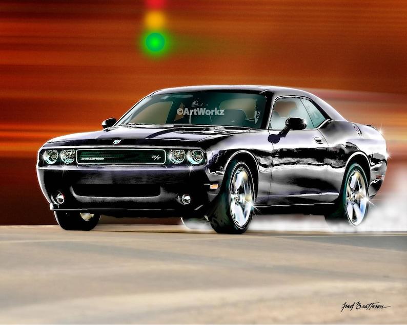 Auto Decor, Hot Rod Art, The Dodge Boys Are Back In Town, Auto Art, Muscle  Car, Black Dodge Hellcat, 8x10 Print - 11x14 Mat - A22