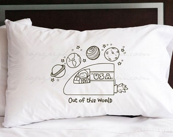 Space Pillowcase (w/ crayons)