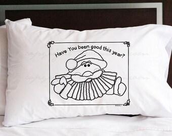 Santa Pillowcase (w/ crayons)