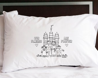 Our Family is Forever Pillowcase (w/ crayons)