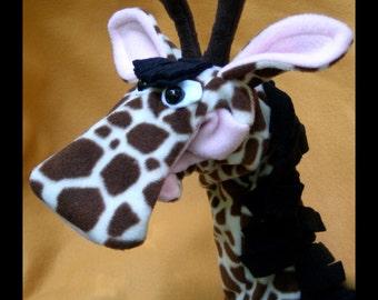 Alert Giraffe Hand Puppet