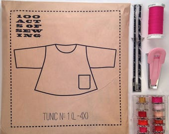 100 Acts of Sewing: Tunic No. 1 - Sewing Pattern  (sizes L-4XL)