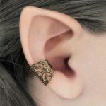 Ear Cuff Soft Whispers - Brass Filigree Ear Cuff, Steampunk Jewelry, Brass Earcuff, No Piercing,  Brass Ear Cuff