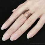 Druid's Treasure - Oak Leaf Ring, Copper Adjustable Ring, Autumn Leaves, Boho Jewelry, Oak Leaf Jewelry, Bohemian Jewelry, Leaf Band Ring