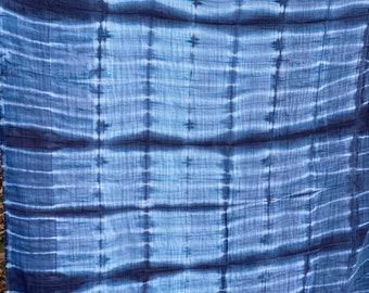 Shibori Muslin Blanket - Infant swaddle, nursing cover, throw blanket