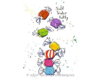 Salt Water Taffy 8x10 Art Print