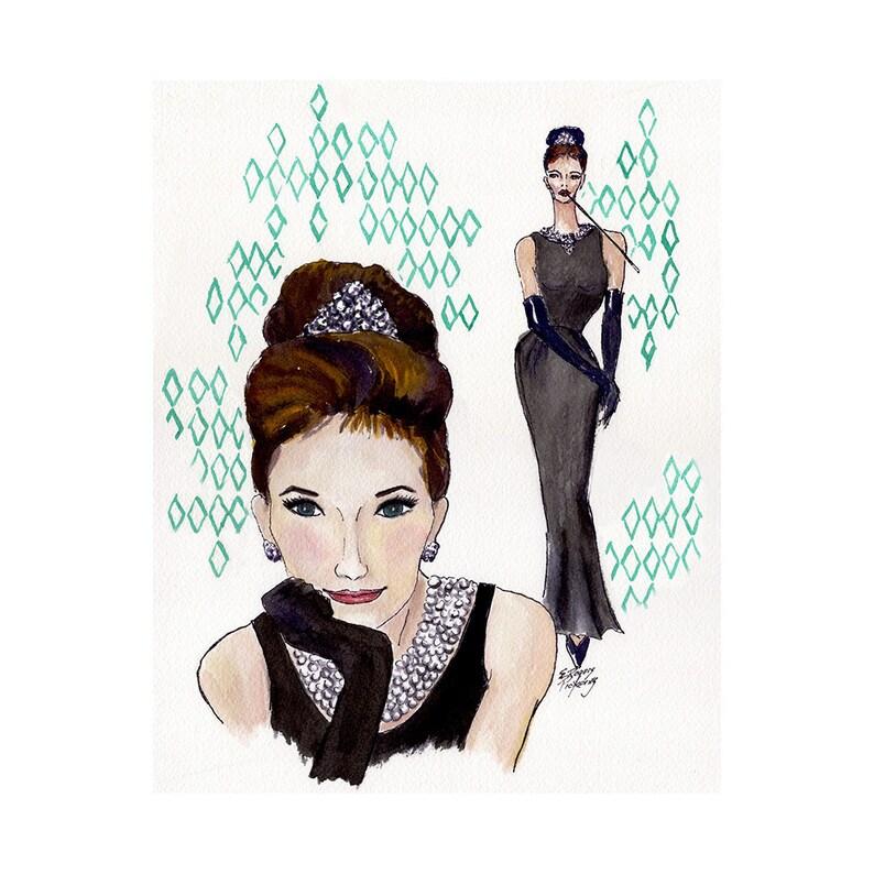 Audrey Hepburn Breakfast at Tiffanys fine art print 8x10 image 0