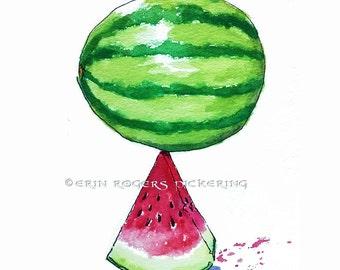 Watermelon Kitchen fine Art Print