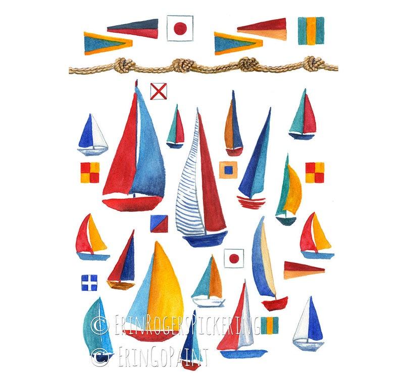 Sailboat Nautical fine art print 8x10 image 0