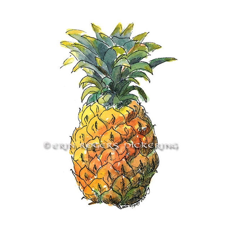 Welcome Pineapple 8x10 kitchen art print image 0