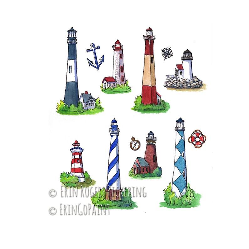 Lighthouses Coastal Fine Art Print image 0