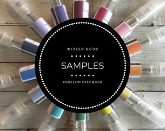 Perfume Samples • Custom Perfume • Personalized Perfume • Best Sample 2020 • Cruelty Free + Vegan • Choose Color + Scent • 475 Scents