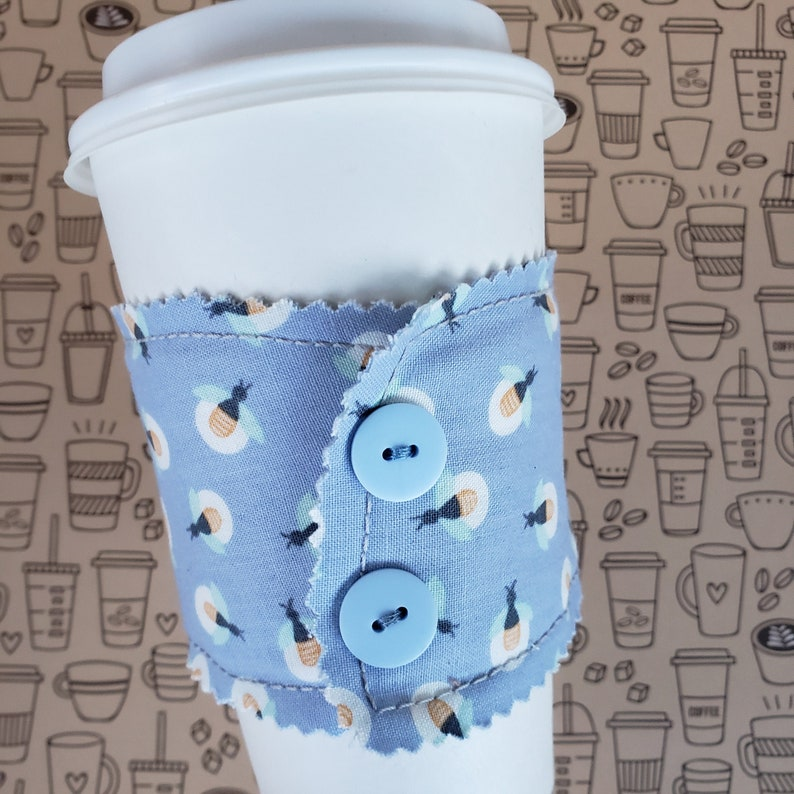 Coffee Sleeve Reusable Coffee Cozie Cozy Coffee Lover image 0