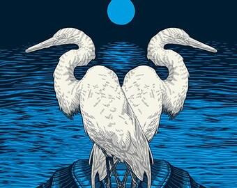 Egrets | 18x24 Screen Print