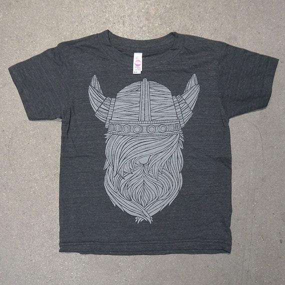 c154d733 VIking Kids Tee Tri Blend Charcoal T Shirt | Etsy
