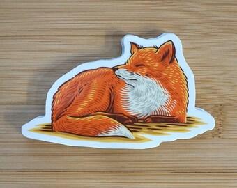 Sleeping Fox | Vinyl Sticker