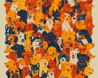 93 Dogs | 18x24 Screen Print