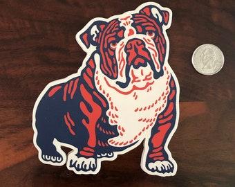 Bulldog Vinyl Sticker