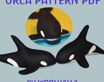 Felt Orca/ Killer Whale Pattern PDF, ocean, seaside, felt toy, decoration, Waldorf, Instant Download