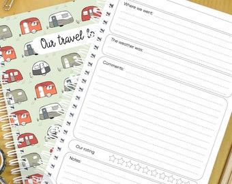 Caravan Travel Log notebook