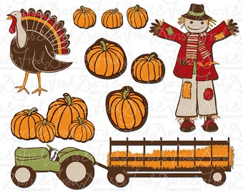 Fall Clip art images, Autumn clipart, royalty free clip art -- Instant Download