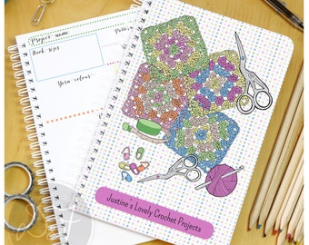 Personalised Crochet project book - spring colours