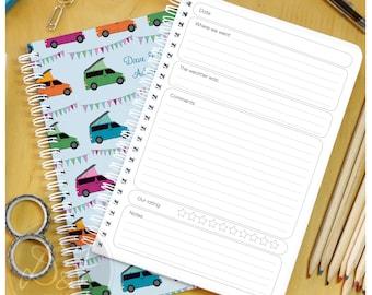 Bongo or campervan Travel Log - notebook