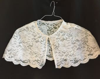 First Communion Lace Cape, Flower Girl Cape