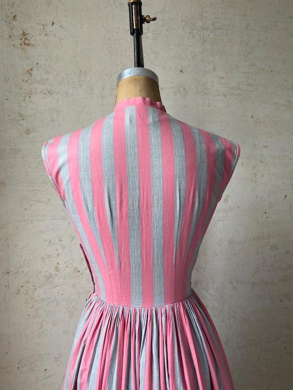 Vintage 50's Joan Miller Juniors Shirtwaist Dress… - image 6
