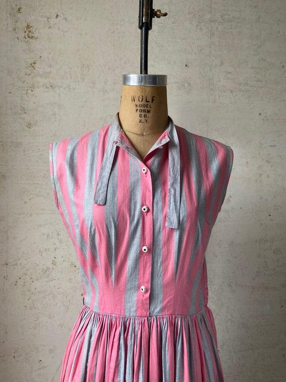 Vintage 50's Joan Miller Juniors Shirtwaist Dress… - image 9