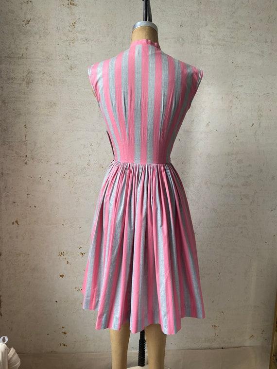 Vintage 50's Joan Miller Juniors Shirtwaist Dress… - image 7