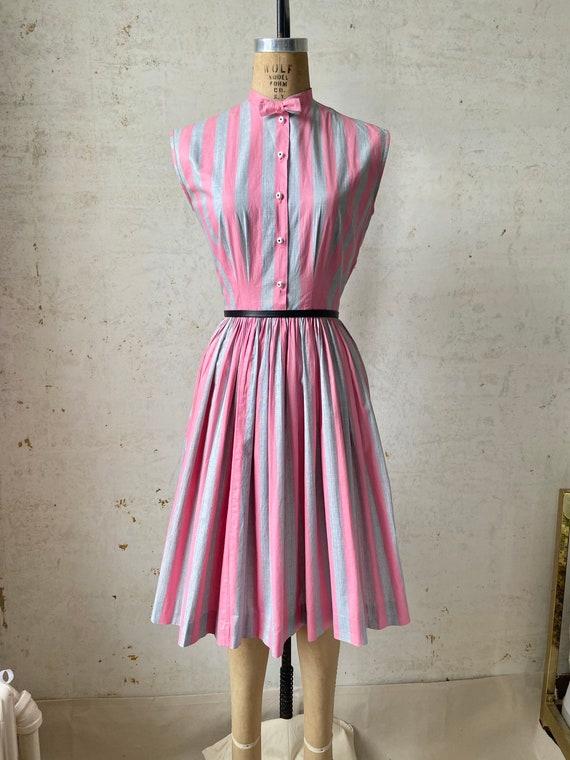 Vintage 50's Joan Miller Juniors Shirtwaist Dress… - image 2